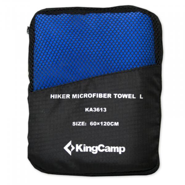 Multifunkční rychleschnoucí ručník KING CAMP 60 x 120 cm modrý