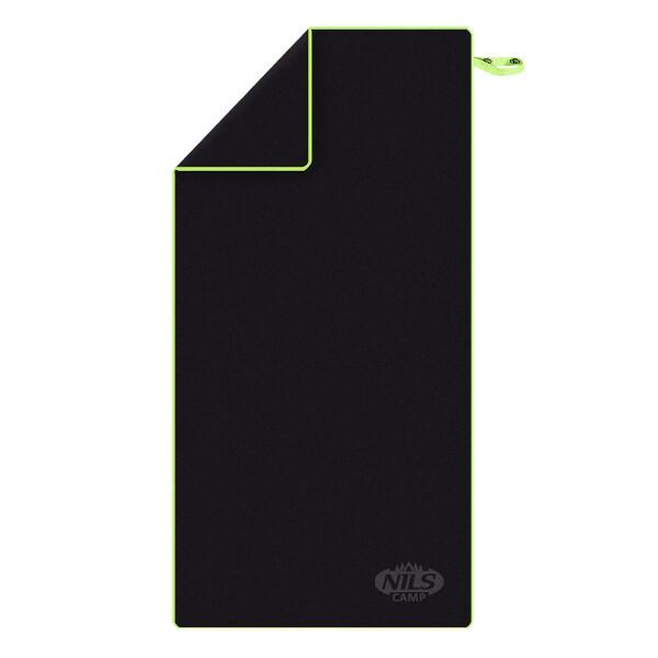 Ručník z mikrovlákna NILS Camp NCR11 černý/zelený